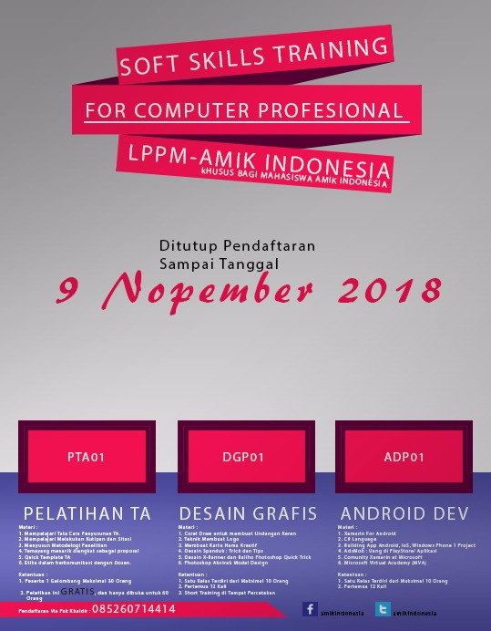 SOFT SKILL TRAINING FOR COMPUTER PROFESIONAL LPPM- AMIK INDONESIA